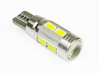 Automotive LED bulb W5W T10 10 SMD 5630 CAN BUS lens