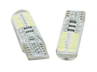 Car LED bulb W5W T10 4014 24 SMD CAN BUS Silicone