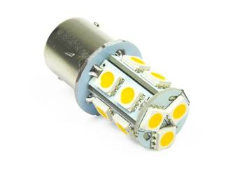 WW LED Bulb Car BA15S 13 SMD 5050 White Heat