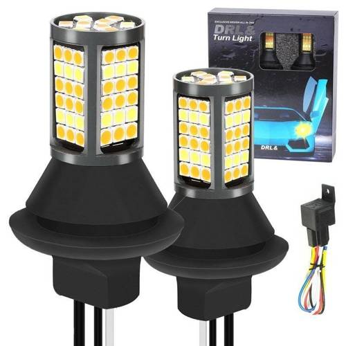 2in1   P21W 81 SMD 4014   Lights LED daytime   MACHINE