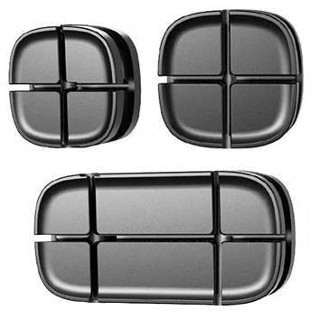 EH31-Black | Set of cable organizers - 3 pieces