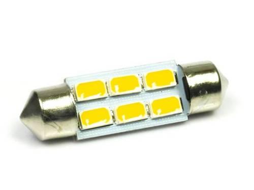 WW LED Bulb C5W Car 6 SMD 5630 White Heat