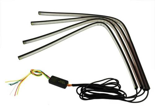 ZW01-4 * 60cm | Set of 4 RGB LED strips - features a stop / stop / turn signal