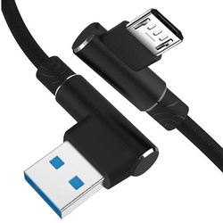 AM30 | Micro-USB-2 M | Abgewinkelte USB-Kabel Ihr Telefon aufzuladen | Quick Charge 3.0 2.4A
