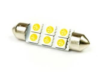 Auto LED-Birne C5W 6 SMD 5050 Warmweiß