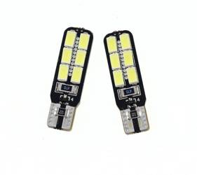 Auto-LED-Lampe W5W T10 5630 12 SMD CAN BUS VERSAHEN