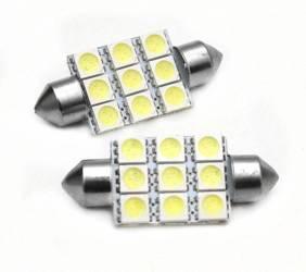 C5W LED-Birnen-Auto 9 SMD 5050