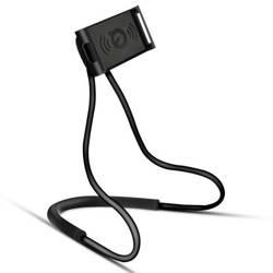 N005-Schwarz | Universalständer | Halshalter / Selfie-Stick für das Telefon