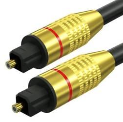 TS07-1.5-1.5M-Black   Toslink Optisches Kabel   GOLD - vergoldete Anschlüsse   HQ