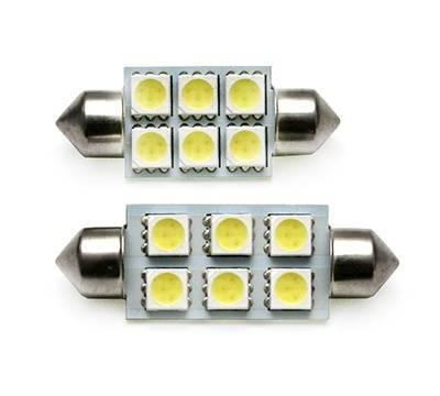 C5W LED-Birnen-Auto 6 SMD 5050