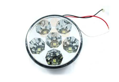 DRL 13 PREMIUM   Leuchtet HIGH POWER LED Tagfahrlicht   rund 90 mm