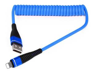 AM32 | Lightning 1M | Spiralny kabel USB do ładowania telefonu | Quick Charge 3.0 2.4A