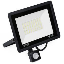 BLS-50W | Naświetlacz LED 50W z czujnikiem ruchu i zmierzchu | 4750 lm | 220V