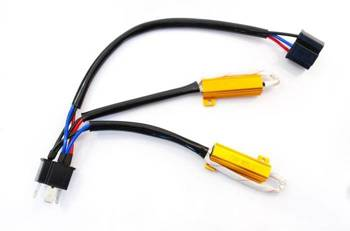 D-50W-8-H4   Filtr LED CAN BUS 50W 8Ω - oprawka H4
