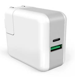 KP2U-PD-White | Ładowarka sieciowa Power Delivery 3.0 do Macbook