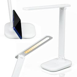 MT-611 | Lampka biurkowa LED 7W | 3 barwy światła | uchwyt na telefon