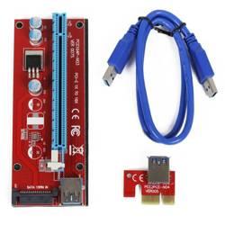 Riser 007S Red   kabel USB 3.0   zasilanie SATA