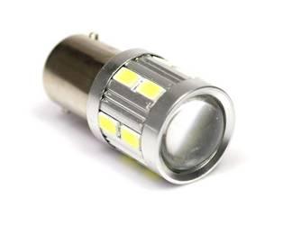 Żarówka samochodowa LED BA15S 16 SMD 5630 soczewka