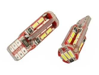 Żarówka samochodowa LED W5W T10 19 SMD 4014 CAN BUS