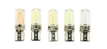 Żarówka samochodowa LED W5W T10 COB 12V 24V 360* Filament