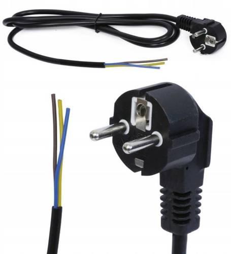 3M Kabel zasilający 230V z wtyczką | PWC-3M-BLACK