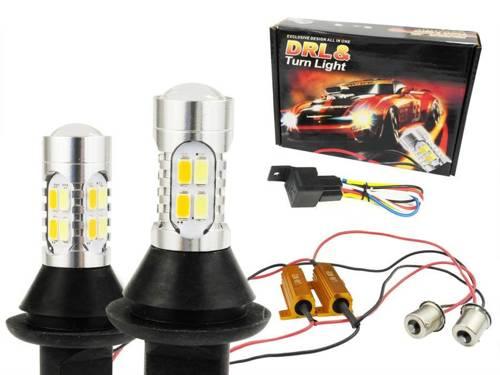 DRL 2w1 z kierunkowskazem |  Żarówki 20 SMD 5730 | Światła LED do jazdy dziennej | AUTOMAT
