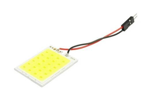 Panel LED COB 24-chip 4x6 + adaptery W5W, C5W, T4W
