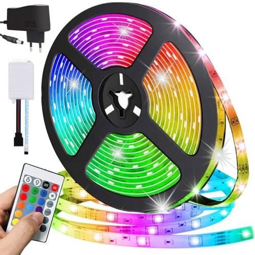 Taśma LED RGB | 5M | zasilacz 230V | 300 diod LED | 5 trybów świecenia
