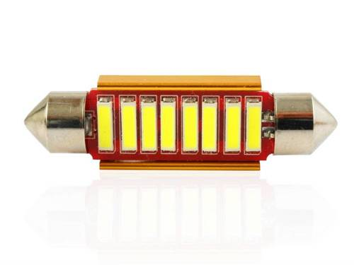 Żarówka samochodowa LED C5W 8 SMD 7014 CAN BUS