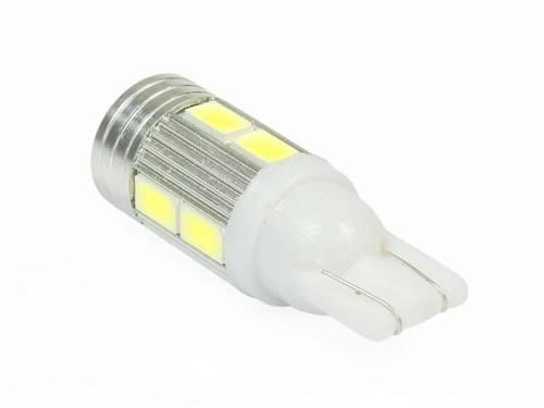 Żarówka samochodowa LED W5W T10 10 SMD 5630