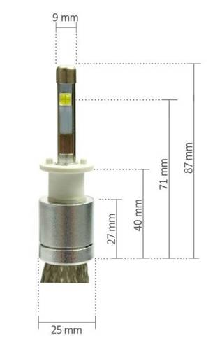 Zestaw LED H1 CREE™ TrueWhite Technology 9600 lm R3