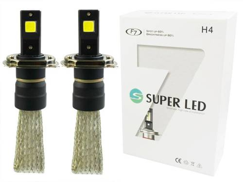 Zestaw żarówek LED H4 F7 60W COB 16000lm