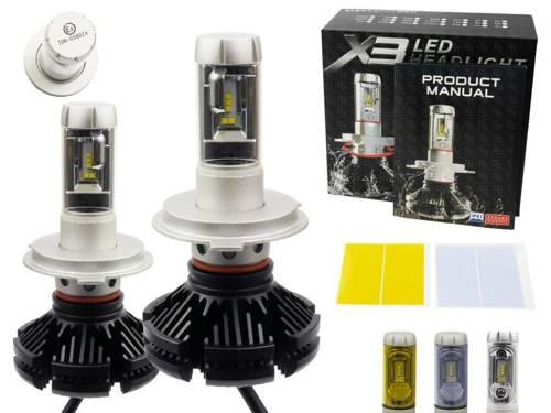 Zestaw żarówek LED H4 X3 DIODA TYP ZES 50W 12000 lm